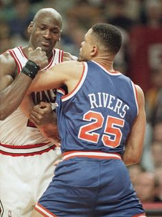 Michael Jordan and Doc Rivers...I had not realized that Doc played when Michael played! Where was I ??