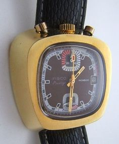 CHRONOGRAPH BULLHEAD FISCO PRESTIGE MANUAL WINDING VALJOUX 7734 FROM 1970