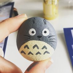 Totoro stone art