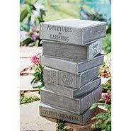 Stacked Books Outdoor Decorative Garden Decor Ceramic Stool ** You can get additional details at the image link.