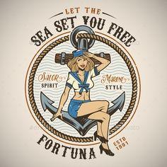 #Vintage #Marine #Logo - People Characters