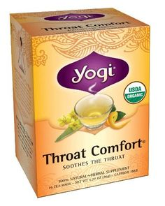 Yogi Throat Comfort Tea, 16 Tea Bags (Pack of 6), Herbal Tea | Contains Slippery Elm which supports your gut which provides healthy skin.