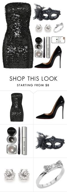 """""""Masquerade party"""" by cam1xoxo ❤ liked on Polyvore featuring Faith Connexion, Christian Louboutin, Bobbi Brown Cosmetics, Masquerade, Kate Spade and Casetify"""