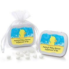 Ducky Duck - Mint Tin Personalized Baby Shower Favors - BabyShowerStuff.com