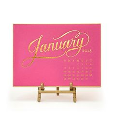 The perfect Christmas gift - a new calendar!