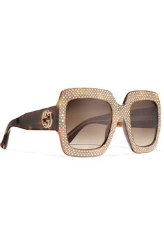 Or Ton Embelli Cristal-cadre Carré Des Lunettes De Soleil - Taille Gucci k4sgh9o3