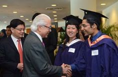 Receiving the Tata Consultancy Services Asia Pacific Medal and Prize from the President of Singapore, Mr. Tony Tan. The award is presented to the second best graduate throughout the course of study for the Bachelor of Computing (Honours) in the School of Computing, National University of Singapore