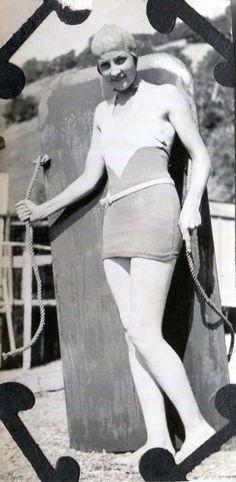 Vintage Photo..Body Surfer Girl 1930's, Original Photo, Old Photo Snapshot, Vernacular Photography, American Social History Photo by iloveyoumorephotos on Etsy