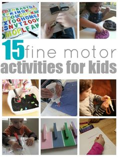 15 Fine Motor Activities For Kids  -  Pinned by @PediaStaff – Please Visit http://ht.ly/63sNt for all our pediatric therapy pins