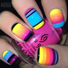 Nail Art Stiletto nails bright and colorful Crazy Nails, Love Nails, How To Do Nails, My Nails, Fabulous Nails, Gorgeous Nails, Pretty Nails, Manicure Y Pedicure, Neon Nails
