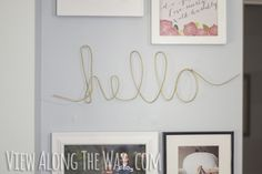 Easy DIY wire word art