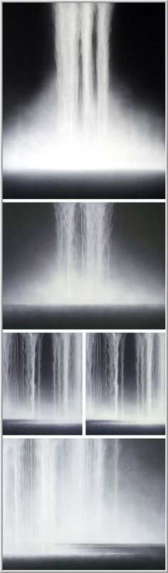 Hiroshi Senju - Waterfalls, 2009    Natural pigments on Japanese mulberry paper