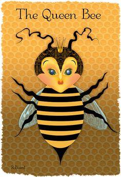 Queen bee...my friend's artwork!