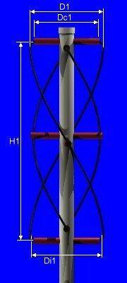 Quadrifilar helicoidal antenna - Javascript on-line calculator