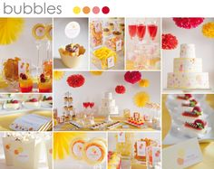 Wedding candy bar red and yellow