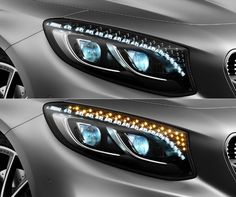 Swarovski crystal headlights, whatever next. Click to find out which car has this outrageous option. #luxury #spon