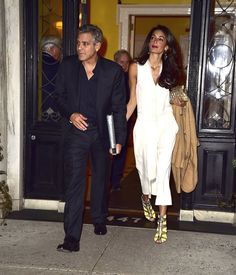 George and Amal Clooney up the glamour factor with hot looks! See more pictures of their date night.