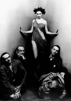 Ballet-Society Corrado Cagli, Vittorio Rieti, Tanaquil Le Clercq and George Balanchine 1948 by