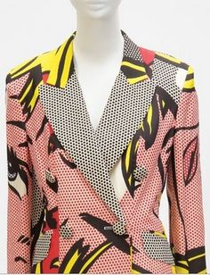 Next up on #FashionFriday, a Roy Lichtenstein inspired blazer. Can you say power suit?