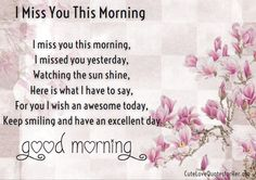 Awesome Good Morning Love Poems Pictures
