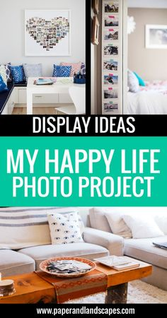 Join us in our Photo Projecy! My Happy Life - Display Ideas - Paper and Landscapes