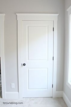Ten June: How To Create Simple + Cheap Farmhouse Trim Our Doors And Windows  Are