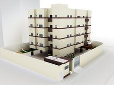 PROJETO DE PRÉDIO COM 4 PAVIMENTOS + PILOTIS - Desenho Arquitetônico II (3° período)