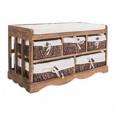 Modern Storage Bench Organizer Furniture Shoes Rack Wooden Baskets Cushion Seat #ModernStorageBench #Modern