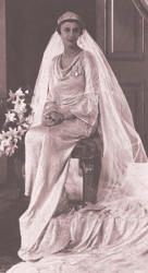 Princess Marina the Duchess of Kent in her wedding gown, 1934