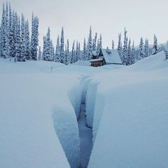Tucked deep in the backcountry of Revelstoke, BC you'll find Blanket Glacier Chalet. Photo by @jakedyson #stayandwander