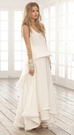 I want a long gorgeous white dress for the summer
