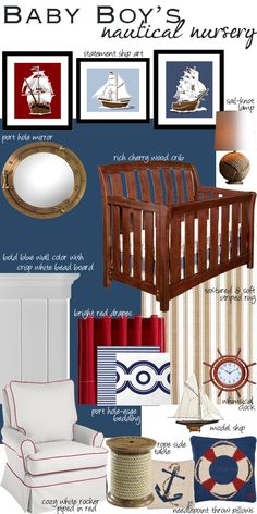 so cute--mom and I once thought about making a nautical room for the male grandkids and a raggedy ann room for the female grandkids