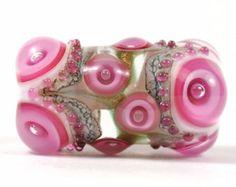 Fokale Glasperle Lampwork Rosa