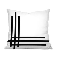 There's nothing basic about this Staccato Pillow Cover. Celebrating the bold design energy of black and white, its linear design offers a compelling touch that draws positive attention to a subdued sol...  Find the Staccato Pillow Cover, as seen in the Organic Modern Design Collection at http://dotandbo.com/collections/organic-modern-design?utm_source=pinterest&utm_medium=organic&db_sku=110533
