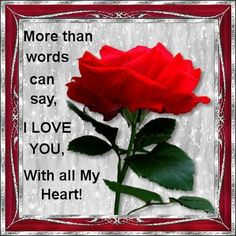 Discover and share I Love You More Than Words Quotes. Explore our collection of motivational and famous quotes by authors you know and love. I Love You Pictures, Love You Gif, You Dont Love Me, My True Love, Love Images, My Love, Sweet Love Quotes, Love Poems, Love Quotes For Him
