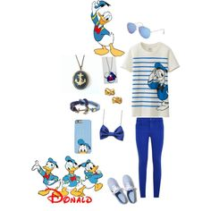 Donald Duck by supersto on Polyvore featuring Uniqlo, J Brand, Keds, Disney, Kate Spade, With Love From CA and Brooks Brothers