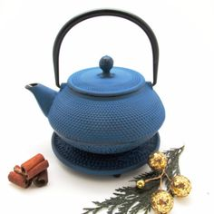 Tokyo Cast Iron Tea Pot with Infuser (Blue)