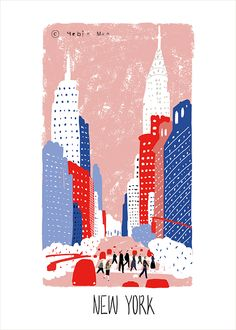 NewYork,travel, traveling, trip, tour, journey,black,illustration,illust,illustrator,people Canada Travel, Travel Usa, Travel Illustration, Bear Illustration, Bee Embroidery, Posca, Collage, Gravure, Travel Pictures