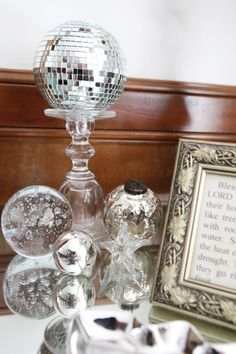 Sparkly silver decorations