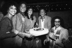 Michael Jackson, Carmen D'Alessio, Steve Rubell at Studio 54 Birthday Party for Michael. And the birthday cake!