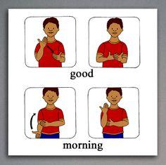 ASL Sign for Good | American Sign Language book illustration sample