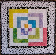 Celebrate Mini quilt using 4 extra bento-box blocks Sampaguita, Miniature Quilts, Quilting Projects, Baby Quilts, Quilt Blocks, Fabric Crafts, Art Photography, Projects To Try, Miniatures