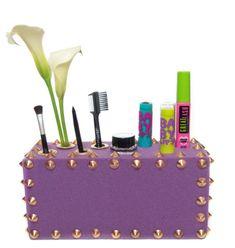 DIY foam makeup storage! http://www.makeup.com/article/the-5-best-ways-to-organize-your-makeup/