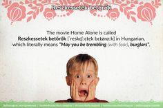 Reszkessetek betörők [ˈreskɛʃːɛtek bɛtørøːk] – Home Alone (movie) https://dailymagyar.wordpress.com/2016/12/26/reszkessetek-betorok/ #Hungarian #language #HomeAlone #ReszkessetekBetörők