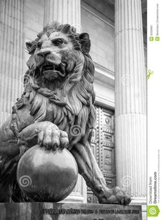 madrid lion statue - Google Search