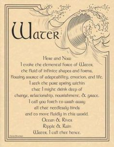 Water Evocation Poster (Different from the other I have posted)