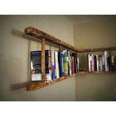 Seasoned ladder for shelving.  Love it!
