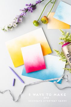 Make This: 5 DIY Ways to Embellish Notecards and Greeting Cards for Spring - Paper & Stitch