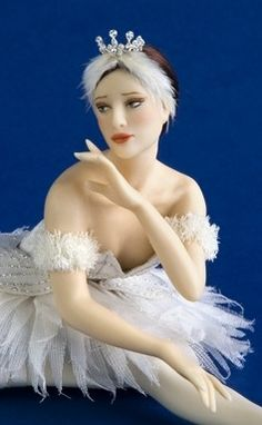 Carabosse Dolls. This is a miniature doll for dollhouses.