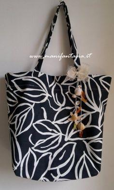 borsa di stoffa per il mare modello tutorial